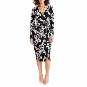 Black, floral, long sleeve (L) Rachel Roy dress